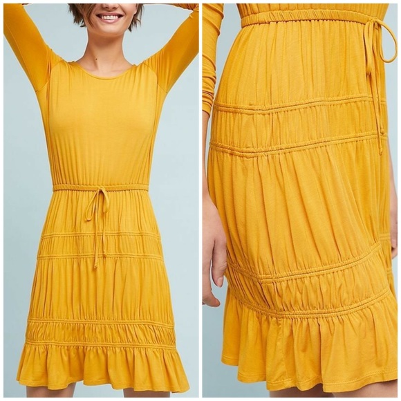 Anthropologie Dresses & Skirts - Anthropologie Dolan Ingrid Mustard Jersey Dress